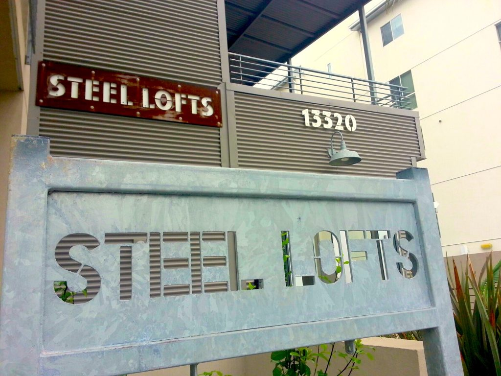 Steel Lofts Sign