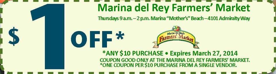 Dollar Off Coupon Marina del Rey