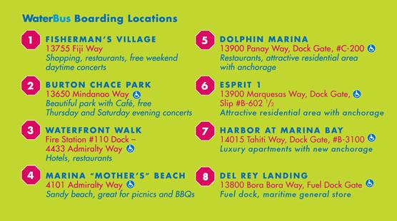 Marina del Rey Water Bus Stops