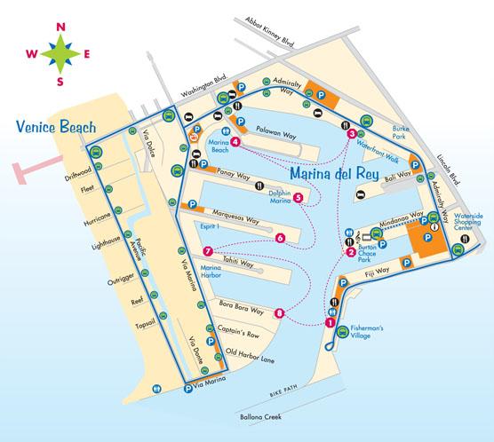 Marina water taxi map