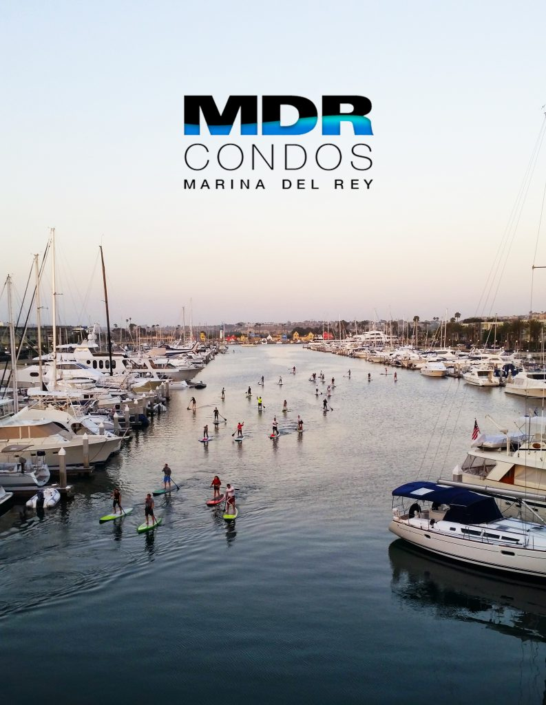 Evening Paddle Boarders in Marina del