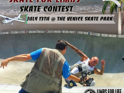Skate for Limbs Fundraiser is Coming up on July 13th